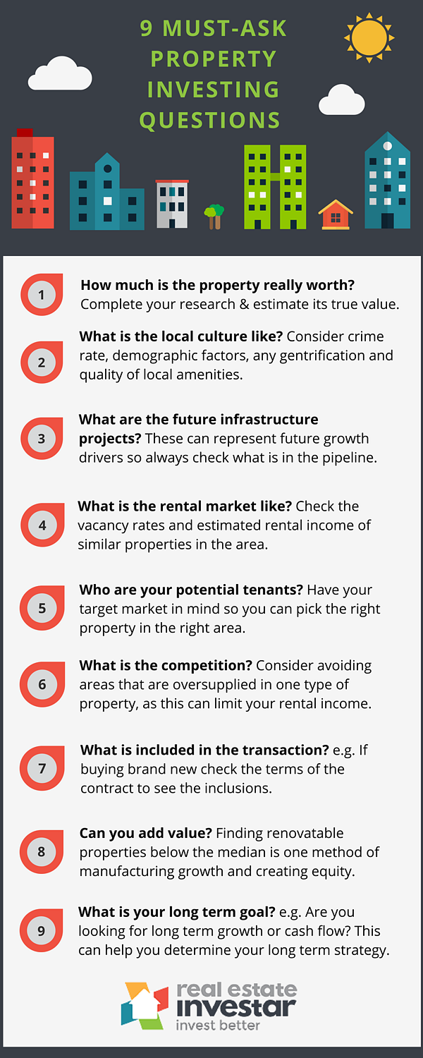 9 must ask questions for property investors