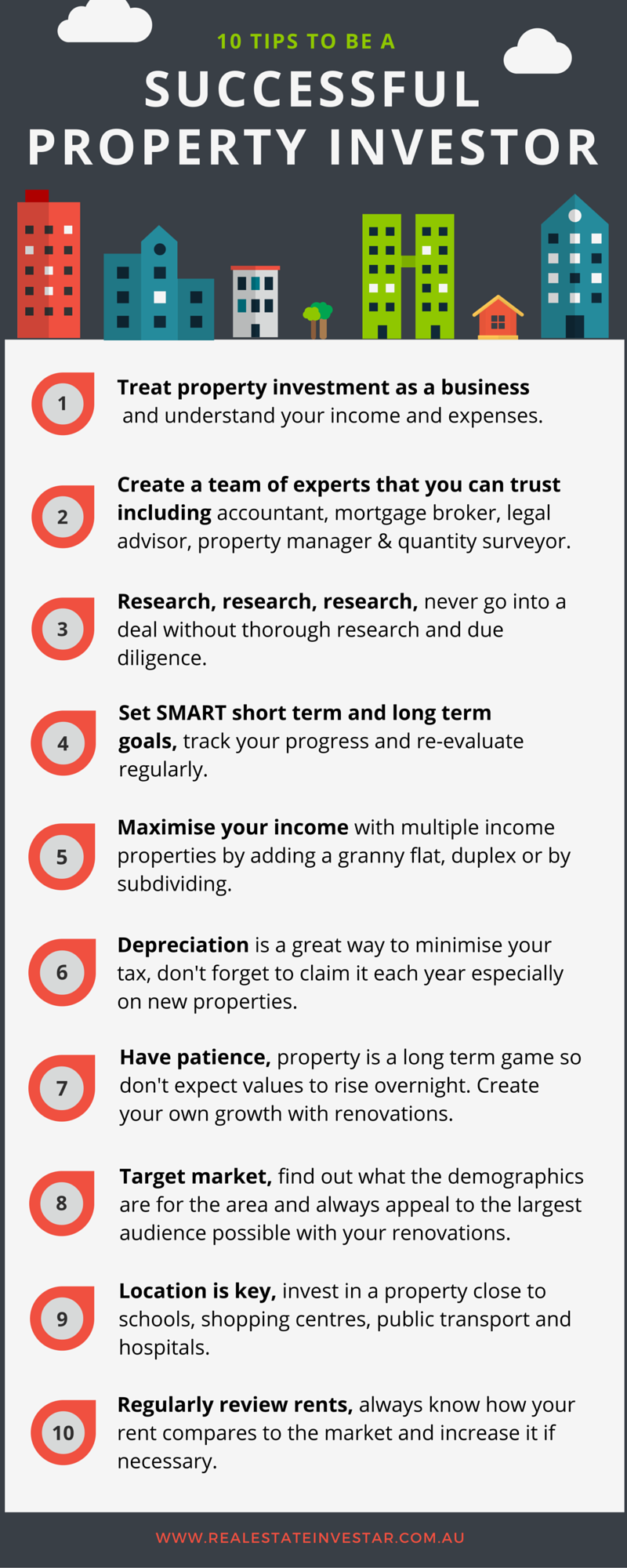 tips to be a successful property investor